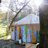 I spent a night in an artist's off-the-grid yurt in the middle of the woods