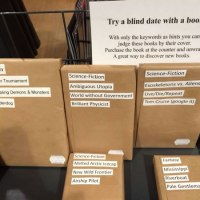 "Stop judging a book by its cover, have a ""blind date with a book"""