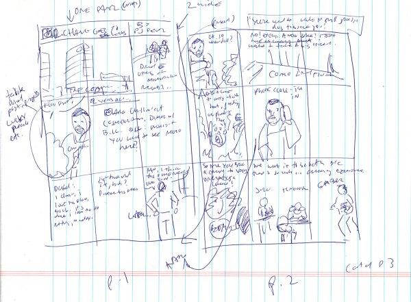 Comic thumbnails pages 1-2