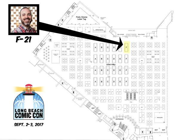 Long Beach Comic Con map