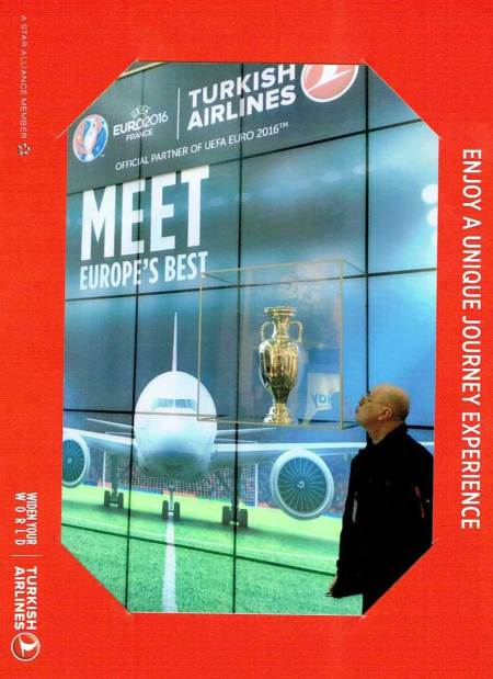 Turkish Airlines proudly presenting the Euro2016 in France