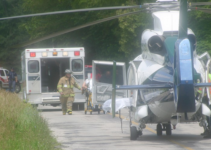 Victim of bicycle crash LifeFlighted from Raisin Center Hwy.