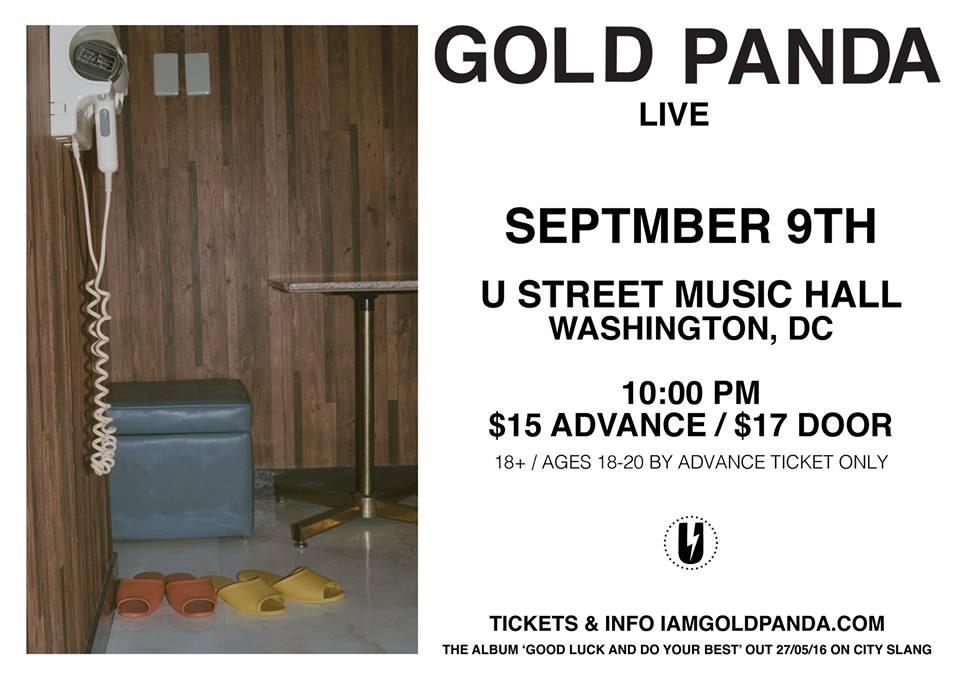 Gold Panda at U Hall, Friday 9/9
