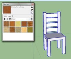 Mod liser une chaise avec sketchup en quelques tapes for Comment dessiner une chaise