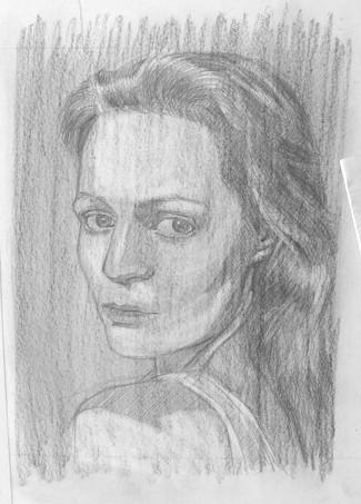 Un exemple pour apprendre à dessiner un portrait avec le cerveau droit