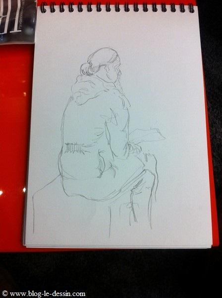 Le dessin sur le papier après quelques minutes