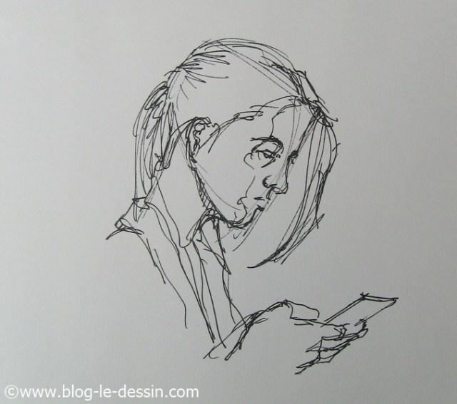 dessin portrait rapide 7