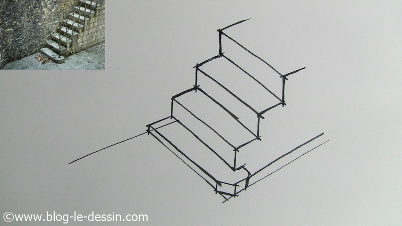 les 233 pour dessiner un escalier simple