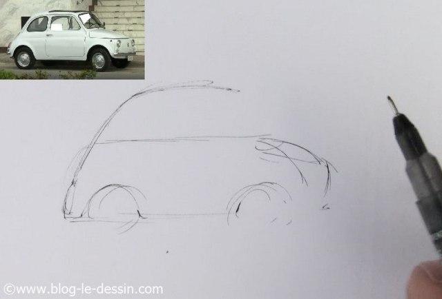 dessiner une voiture
