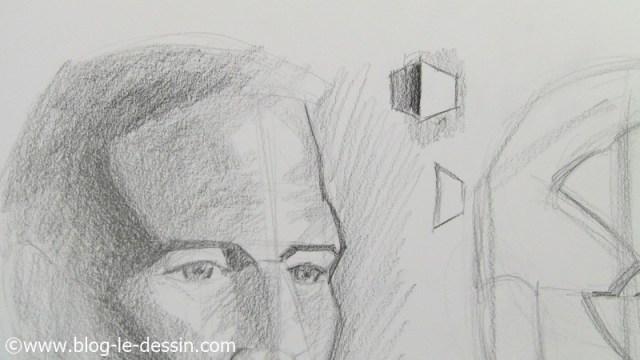 le schema pour comprendre comment dessiner l'ombre d'un facies