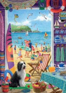 Through the Beach Hut door 500 piece jigsaw puzzle