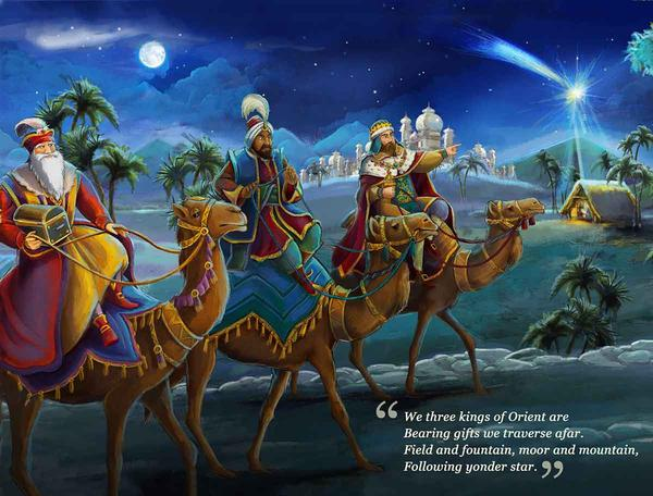 We Three Kings 1000 Christmas Carol Jigsaw Puzzle
