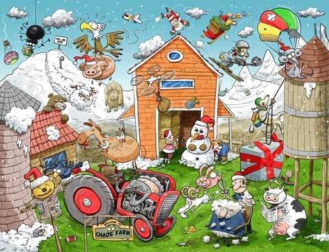 christmas-at-chaos-farm-1000-piece-jigsaw-puzzle