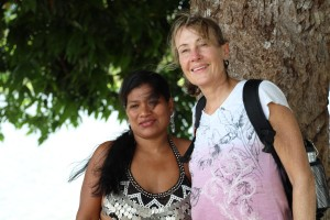 Lori with Embera