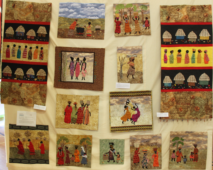 Montage of African Wall Quilts by Ann Howes