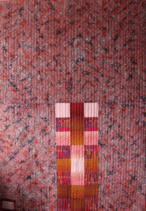 Ombre weave quilt back