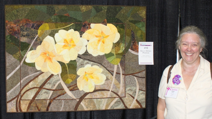 Primroses by Helen Garland at the AQS Syracuse New York show