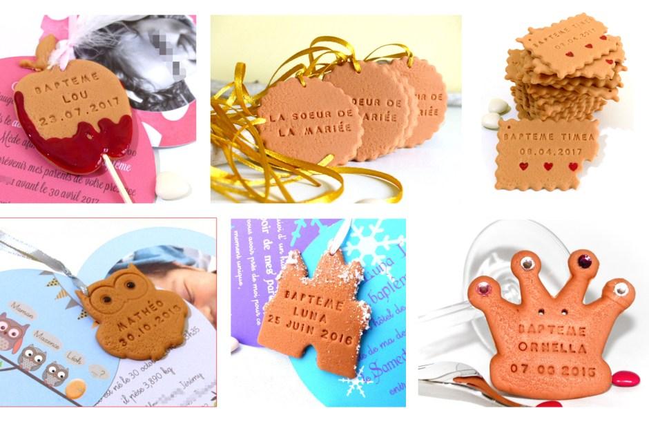 faire-part biscuit personnalisé, pomme d'amour, chouette, couronne de princesse