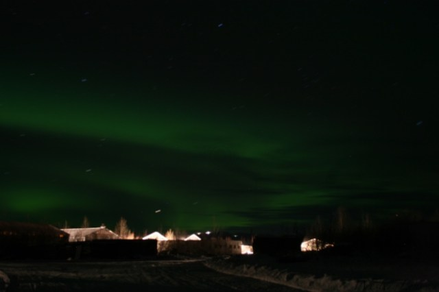 Northern Lights in Livengood mining camp
