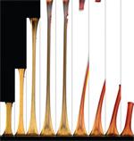All'aumentare delle sollecitazioni, il materiale cambia colore (photo credit: D. Stevenson, A. Jerez, A. Hamilton e D. Davis)