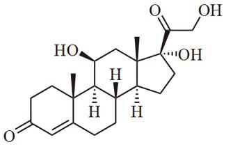 Diagramma molecolare del cortisolo (credit: wikimedia.org)