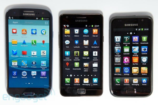 Samsung Galaxy S, II and III pitted against one another in Display Mate shootout