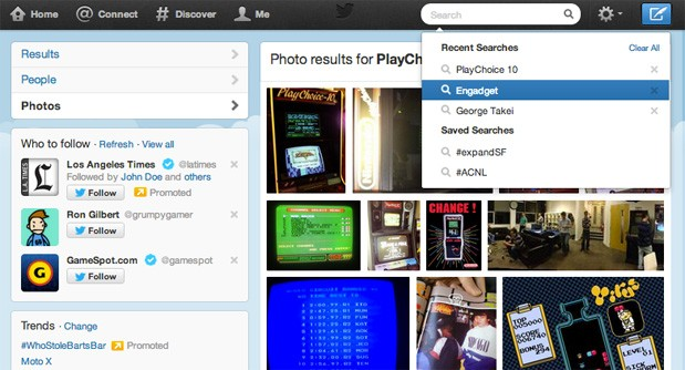 Twitter search upgraded with photo results, recent query suggestions