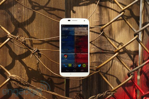 Moto X fenced in