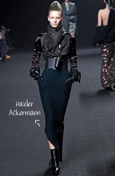 Assimetric skirt Hauder Ackermann SS12