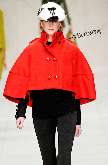 Red coat Burberry SS12