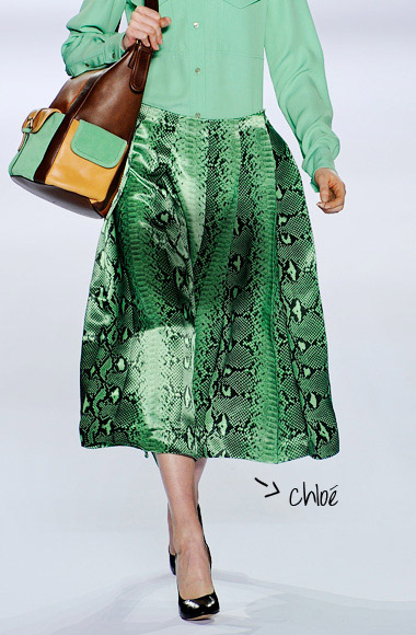 skirt color snake SS12 Chloé
