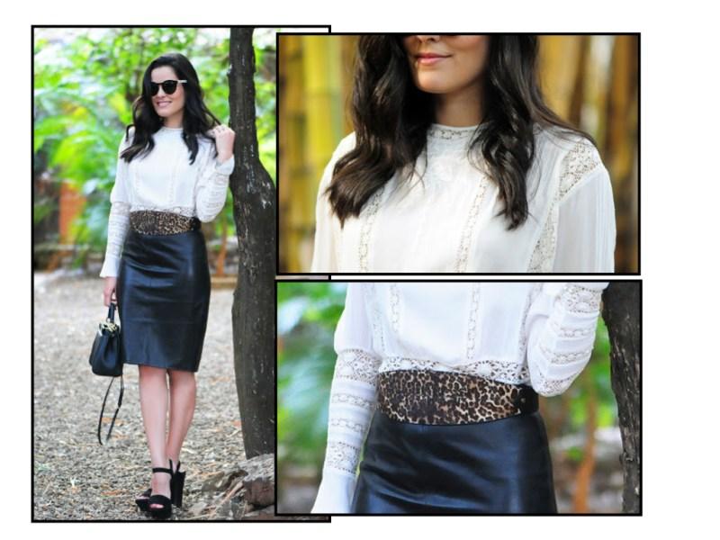 Blusa Isabel Marant | Saia Givenchy | Sandália Blog da Mariah para Paula Torres | Cinto Lanvin | Óculos Illesteva