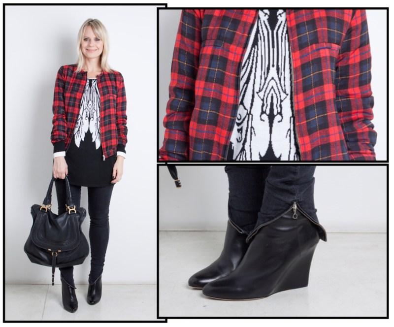 Jaqueta Zara | tricot Amissima | calça Balenciaga | bolsa Chloé | bota Jimmy Choo