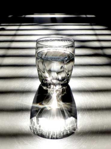 Vaso, Agua, Luz, Sombra