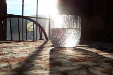 Vaso de Agua con Luz