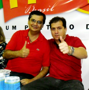 Flávio Dino e Simplício Araújo