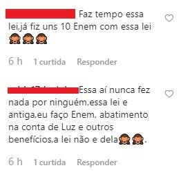 comentarios 1 - NINJA NA REDE: internautas colocam em xeque lei de Cida que assegura gratuidade em concursos públicos para beneficiários do Bolsa Família