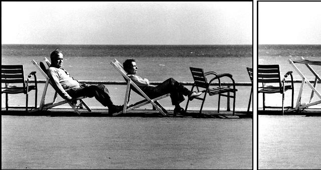 Elliott Erwitt Cannes, France, 1975 (beach chairs)