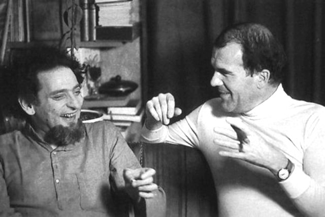 """""""El mejor amigo de Perec"""". Georges Perec y Harry Mathews, París 1975."""