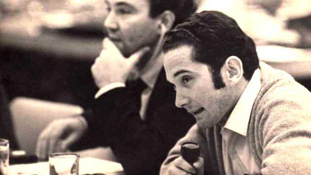 1968. Jovencísimos, Ricardo Piglia y León Rozitchner en el Congreso Cultural de La Habana.