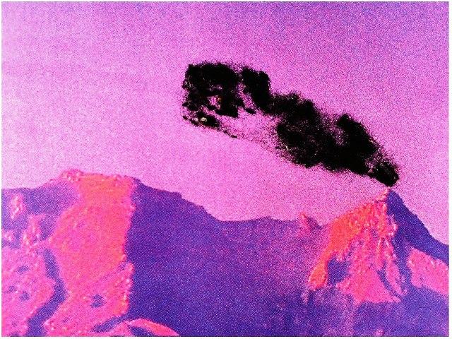 pink volcano Nina Katchadourian