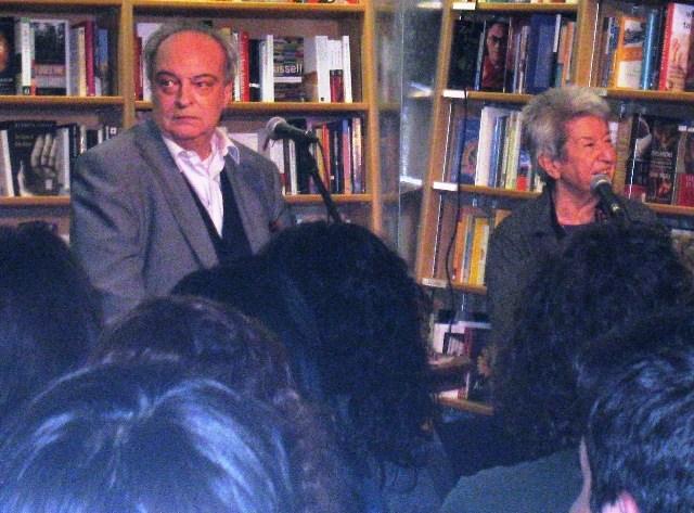 V-M  y Sylvia Molloy en Nueva York, librería McNally Jackson-