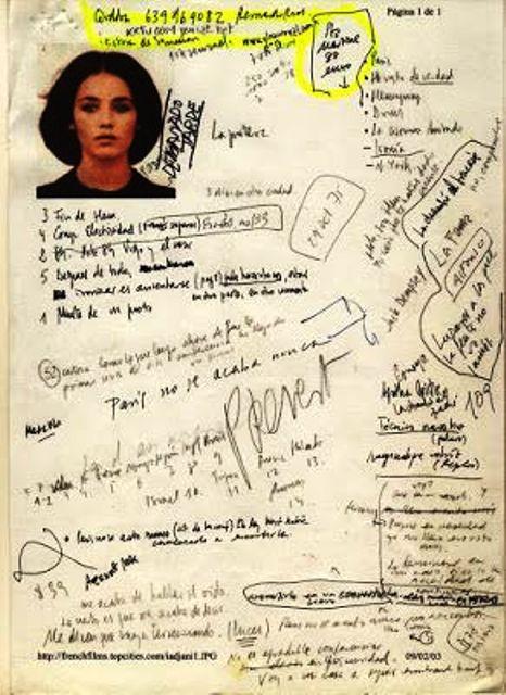 Una hoja del cuaderno de trabajo de Vila-Matas en París no se acaba nunca