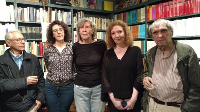 José Balza, María Fernanda Maragall, Victoria de Stefano, Katina Enriquez y Rafael Cadenas.