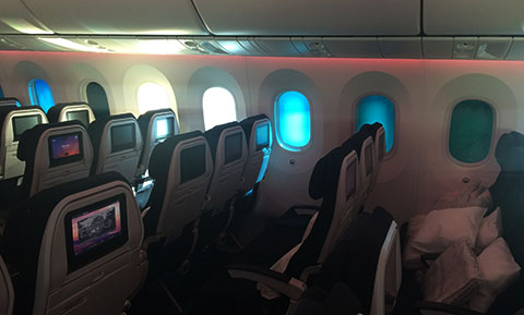 Dreamliner window shades
