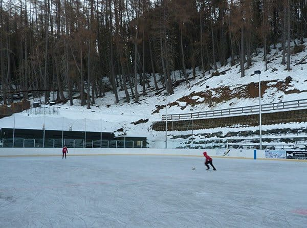 Ice skating Tekapo