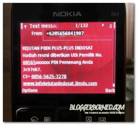 Modus Penipuan Poin Plus Indosat via SMS