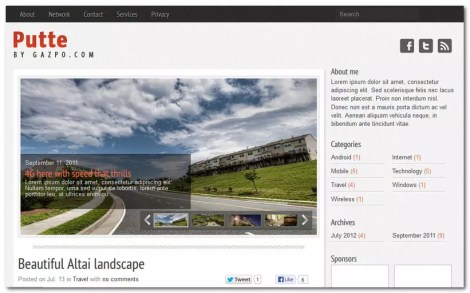Free WordPress Theme 2013 - Putte