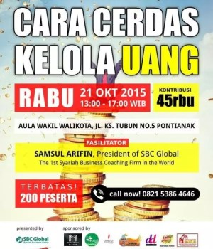 Seminar Cara Cerdas Kelola Uang Pontianak 2015