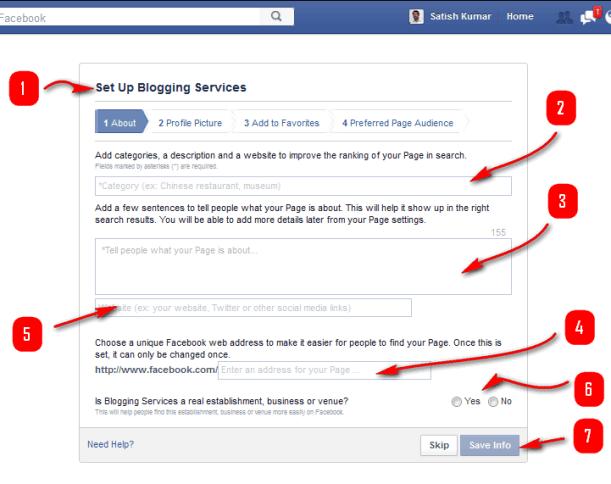 setup blogging services page